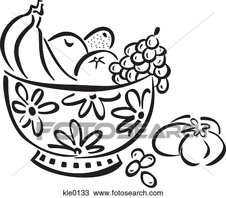 Fruit Bowl Line Drawing a Bowl Full of Fruit