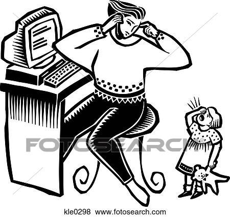 Colecci N De Ilustraciones Un Madre En Ella