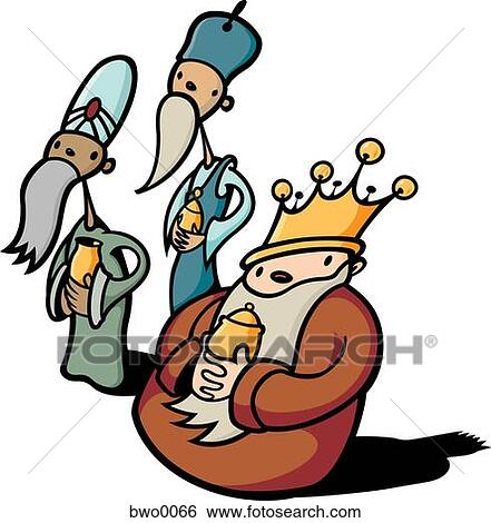 stock illustration of three wise men bwo0066 search clip art rh fotosearch com three wise kings clipart Clip Art Three Wise Men Gifts