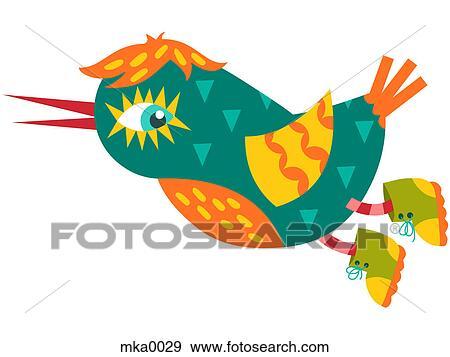 Banque d 39 illustrations a voler oiseau bleu cheveux for Oiseau bleu et orange