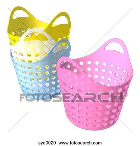 Empty Laundry Basket Clipart Stock Illustrat...