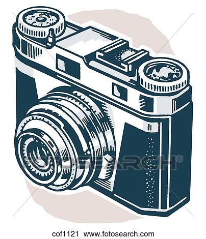 Clipart Of A Vintage Camera Cof1121
