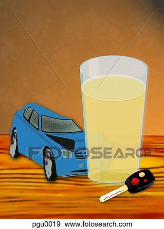 banque d 39 illustrations voiture briser dans verre de alcool pgu0019 recherche de. Black Bedroom Furniture Sets. Home Design Ideas