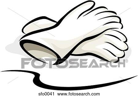 Rubber Gloves Drawing Clipart Two Latex Gloves