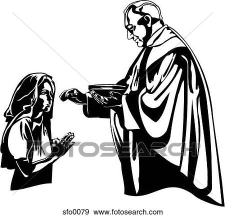 Watch more like Priest Giving Communion Clip Art