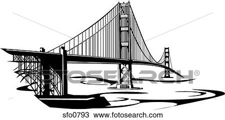 Golden Gate Bridge Drawing Black And White Golden Gate Bridge Drawing