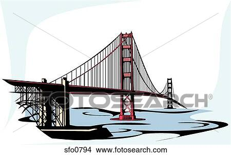 Golden Gate Bridge Drawing Clip Art Drawings of Golden Gat...