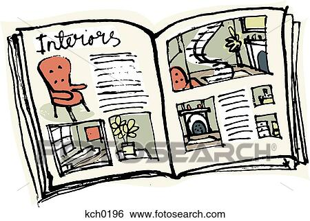 stock illustration of an interior design magazine kch0196 search rh fotosearch com interior design clipart free house interior design clipart