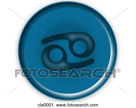 clipart krebs horoskop symbol cla0001 suche clip art illustration wandbilder zeichnungen. Black Bedroom Furniture Sets. Home Design Ideas