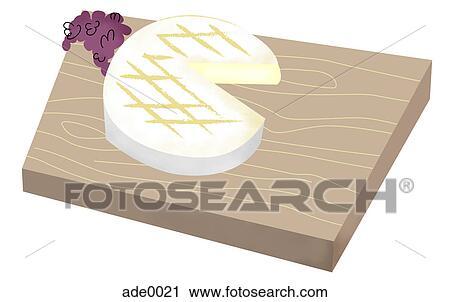 Schneidebrett clipart  Clipart - käse, auf, a, schneidebrett ade0021 - Suche Clip Art ...