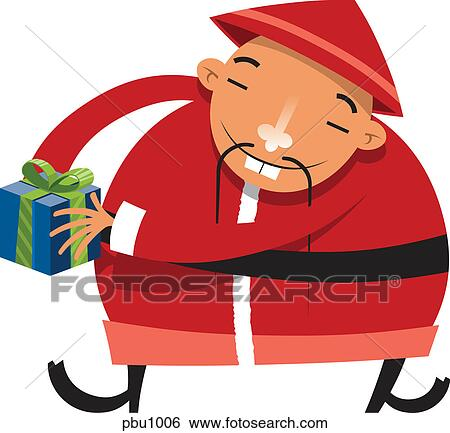 Asian or chinese santa clause clipart