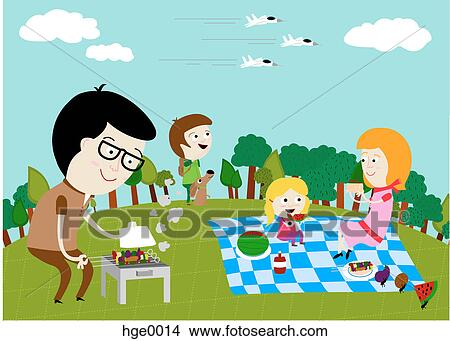 Family picnic Clip Art and Stock Illustrations. 194 family picnic ...