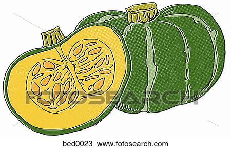 Dessin kabocha courge bed0023 recherchez des cliparts des illustrations et des images - Dessin courge ...