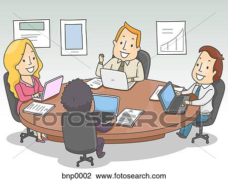 Busy People Clipart People in a Business Meeting