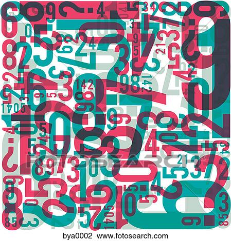 Jumbled Numbers Clip Art Jumbled Numbers