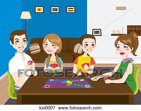 A Family Having Game Night