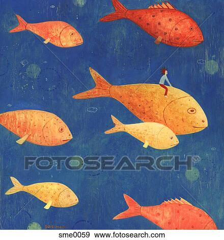 Banque d 39 illustrations a gar on aller pour a for Prix poisson rouge maxi zoo