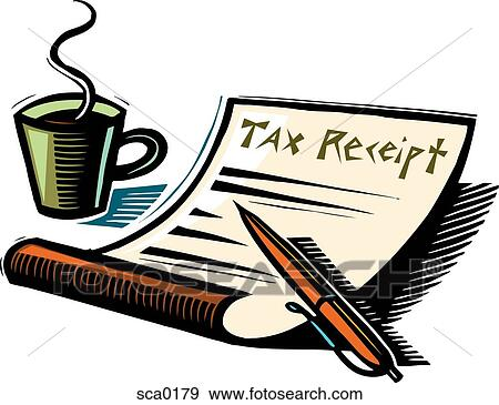 Stock Illustration of tax receipt sca0179 - Search Vector ...