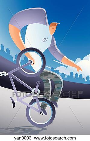 手绘图 - 自行车诡计
