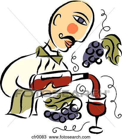 Drawing of wine pouring cfr0083 - Search Clipart, Illustration ...