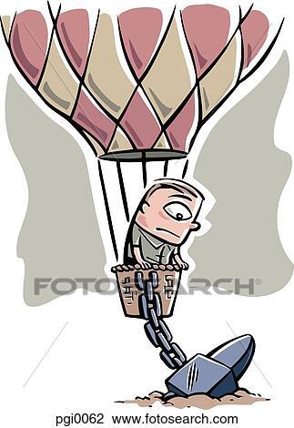Clip art hei luft ballon angekettet to dass boden for Boden clipart