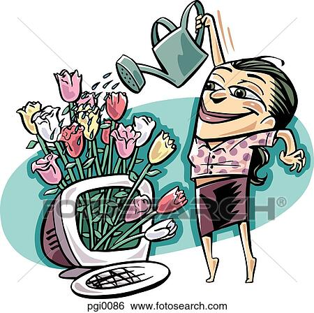 banque d 39 illustrations achat fleurs ligne pgi0086 recherche de clip arts de dessins d. Black Bedroom Furniture Sets. Home Design Ideas