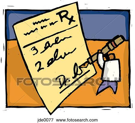 stock illustration of doctor writing a prescription jde0077 search rh fotosearch com prescription clipart free clipart prescription bottle