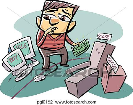 clip art of man buying and selling online pgi0152 search clipart rh fotosearch com buy clip art online buy clipart collection