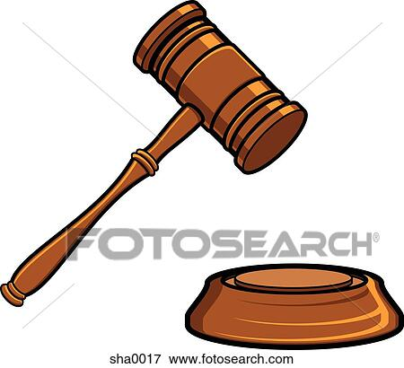 Judges Gavel Black And White Clipart