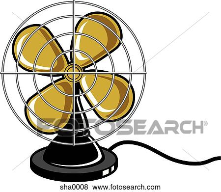 Stock Illustration of Electric fan sha0008 - Search EPS ...