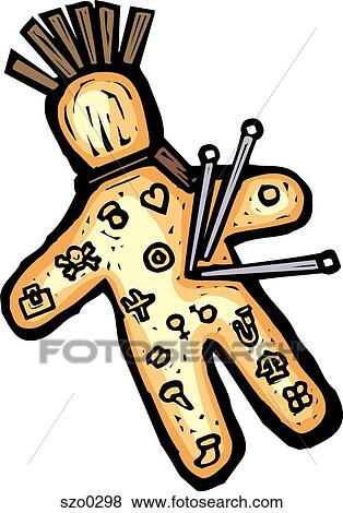 stock illustration of voodoo doll szo0298 search eps