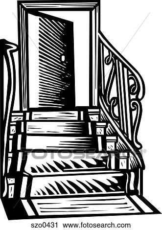 open door clipart black and white. Clipart - Red Carpet Leading To An Open Door B\u0026w. Fotosearch Search Clip Art Black And White