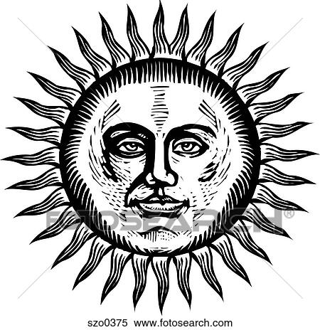 Sun Drawing Black White Bright Sun in Black And White