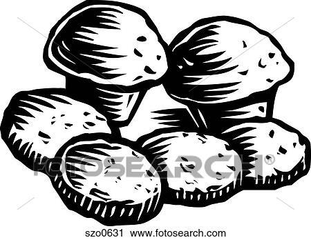clipart muffins und pl tzchen schwarz wei szo0631 suche clip art illustration. Black Bedroom Furniture Sets. Home Design Ideas