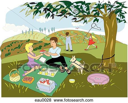 Arquivos de ilustra o um fam lia desfrutando seu for Mobilia zoo
