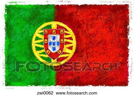 Clipart drapeau de portugal zwi0062 recherchez des cliparts des illustrations des - Dessin drapeau portugal ...