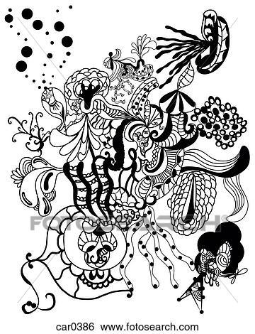 stock illustration schwarz wei abstrakt organische formen und. Black Bedroom Furniture Sets. Home Design Ideas