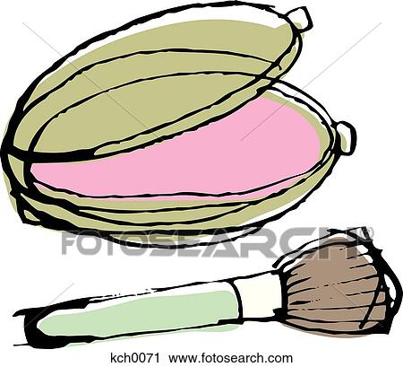 Clipart Blush Compact And a