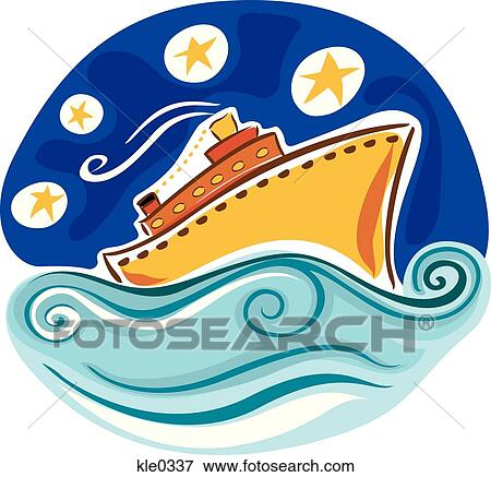 Stock Illustration of cruise ship abr0025 - Search Clipart ...