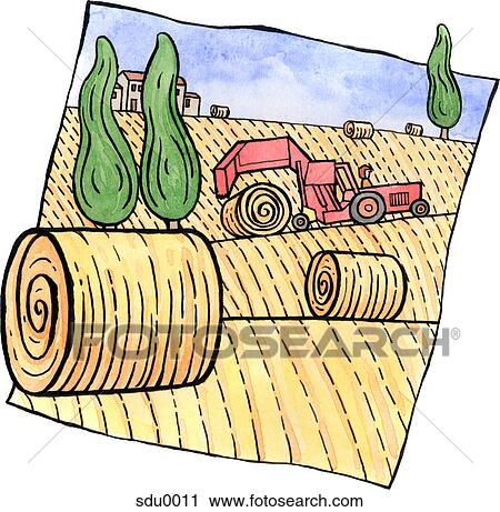 Hay bale Clipart and Stock Illustrations. 107 hay bale vector EPS ...