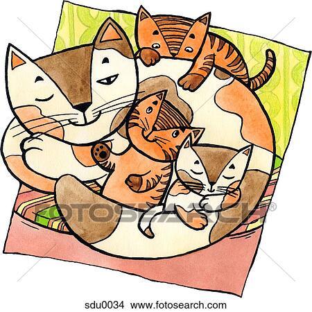 Disegni uno gatto con gattini sdu0034 cerca for Gatto clipart