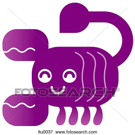 Stock Illustration of A cute Scorpio scorpion character ...