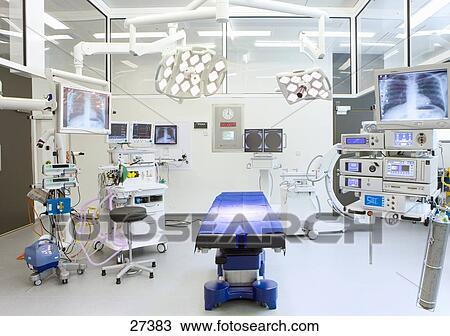 圖吧- 醫院, 手術室, 帶, 監控, 同時,, 設備.圖片