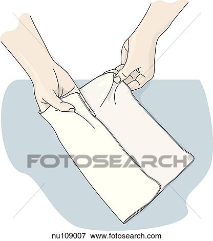 Stock Illustration of first step in formation of mitt from ...