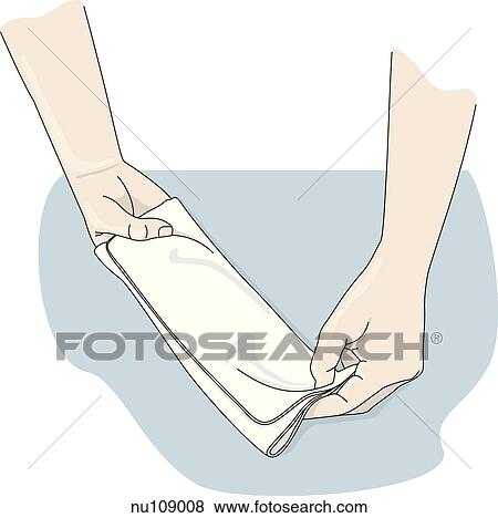 Stock Illustration of second step in formation of mitt from ...
