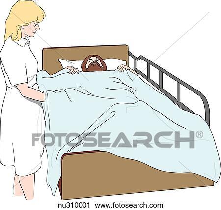 Clipart enfermera mostrar el quitar cima linos de for Bano ocupado en ingles