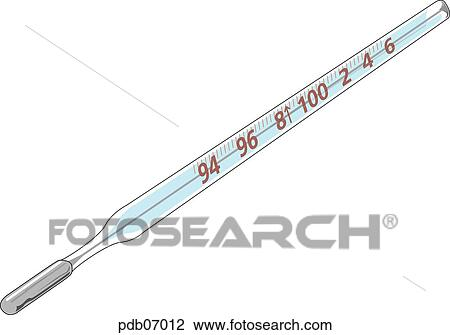 Digital Thermometer Drawing Drawing of a Thermometer