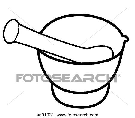 Clipart of Mortar and pestle aa01031 - Search Clip Art ...