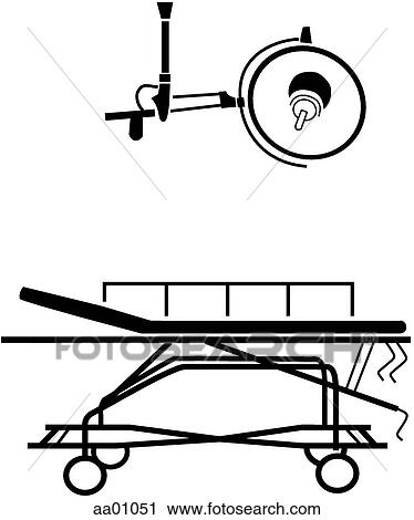 Clipart of Surgical table/lamp aa01051 - Search Clip Art ...