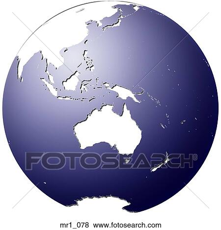 Pictures of globe world map indonesia australia mr1078 picture globe world map indonesia australia fotosearch search stock gumiabroncs Choice Image